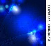 abstract blue digital molecule... | Shutterstock .eps vector #319183556