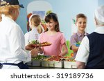 pupils being served with...   Shutterstock . vector #319189736