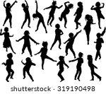 child silhouettes illustration  ... | Shutterstock .eps vector #319190498