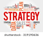 strategy word cloud  business... | Shutterstock .eps vector #319190636