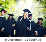 graduation student commencement ... | Shutterstock . vector #319205408