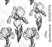 """seamless pattern flowers iris"" ... | Shutterstock .eps vector #319207976"