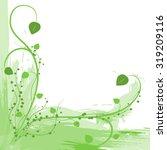 green herb on white background  | Shutterstock .eps vector #319209116