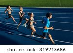 group of multiracial athletes... | Shutterstock . vector #319218686