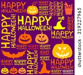 halloween seamless background... | Shutterstock .eps vector #319227965