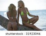 two sexy blonds on vacation | Shutterstock . vector #31923046