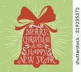 typographical greeting card... | Shutterstock .eps vector #319235372