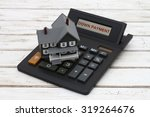 calculating your down payment ... | Shutterstock . vector #319264676