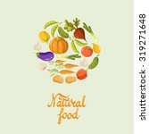 vegetables. vector background.... | Shutterstock .eps vector #319271648