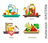 vector flat illustration set.... | Shutterstock .eps vector #319272506