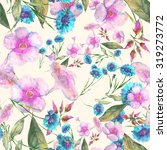 beautiful floral seamless... | Shutterstock . vector #319273772