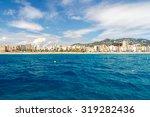 view of the beach in lloret de... | Shutterstock . vector #319282436