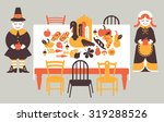 composition with thanksgiving... | Shutterstock .eps vector #319288526