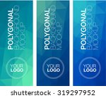 vertical  polygonal banners | Shutterstock .eps vector #319297952