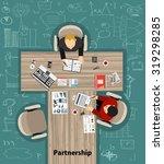business meeting. flat design. | Shutterstock .eps vector #319298285