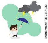 business concept  businessman... | Shutterstock .eps vector #319314032