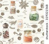 seamless kitchen background of...   Shutterstock .eps vector #319321568