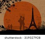 Lovers In Paris On Grunge...
