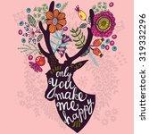 lovely vector illustration of... | Shutterstock .eps vector #319332296