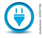 plug icon  blue  3d  isolated...