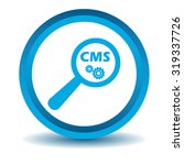 cms search icon  blue  3d ...