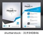 business brochure template.... | Shutterstock .eps vector #319340846