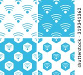 wi fi patterns set  simple and...