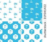 palm tree patterns set