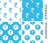 indian rupee patterns set ...