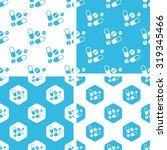 medicine patterns set  simple... | Shutterstock . vector #319345466