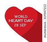 vector illustration world heart ... | Shutterstock .eps vector #319347212