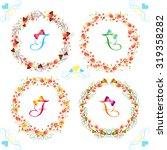 floral frame collection. set of ... | Shutterstock .eps vector #319358282