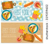 flat design banner with fast... | Shutterstock .eps vector #319359602