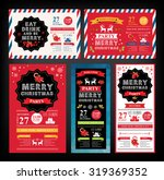 christmas party invitation.... | Shutterstock .eps vector #319369352