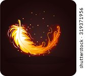 magic phoenix feather | Shutterstock .eps vector #319371956