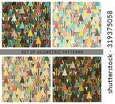 geometric seamless patterns....   Shutterstock .eps vector #319375058