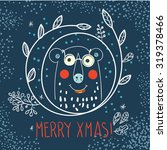 polar bear hipster inside a... | Shutterstock .eps vector #319378466
