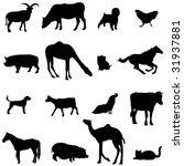 farm animals livestock and... | Shutterstock .eps vector #31937881