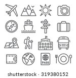 travel and tourism icon set in... | Shutterstock .eps vector #319380152