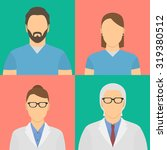 four medical workers avatars.... | Shutterstock .eps vector #319380512