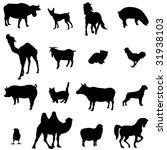 farm animals livestock and... | Shutterstock .eps vector #31938103