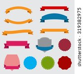 set of different vintage ribbon ... | Shutterstock .eps vector #319382975