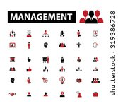 management icons | Shutterstock .eps vector #319386728