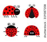 Ladybug Ladybird Icon Set. Bab...