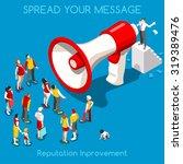 social web promotion... | Shutterstock . vector #319389476