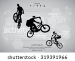 bmx biker. vector | Shutterstock .eps vector #319391966