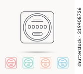 electricity power counter icon. ... | Shutterstock .eps vector #319408736