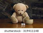 Cute Teddy Bear With A Coffee...