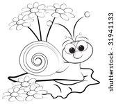 kids illustration with snail...   Shutterstock .eps vector #31941133