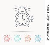 alarm clock icon. mechanical... | Shutterstock .eps vector #319414592